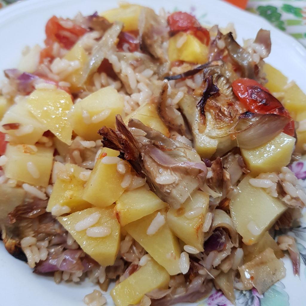 piatto riso al forno